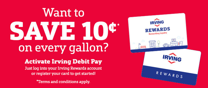 great irving oil convenient gas station locations rewards programs and dealer with efs cambronne - Irving Rewards Card
