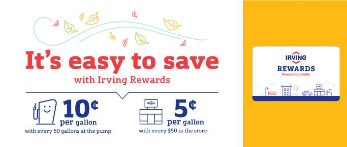 irving - Irving Rewards Card